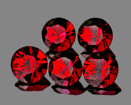 3.50 mm Round 5 pcs 0.86ct Red Spinel [VVS]