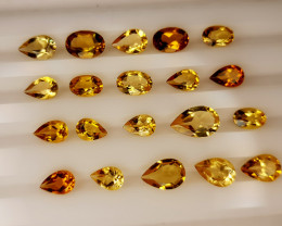 8.65Crt Madeira Citrine Lot Natural Gemstones JI138