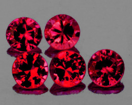 3.50 mm Round 5 pcs 0.96ct Orange Pink Spinel [VVS]