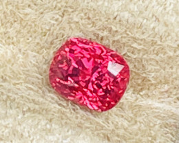 2.30 ct Luc Yen vivid pinkish red spinel.
