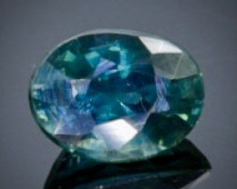 0.52 Crt Natural  Sapphire Faceted Gemstone.( AB 91)