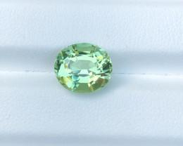 4.15 carats Internally Flawless Mint Green Tourmaline Gemstones