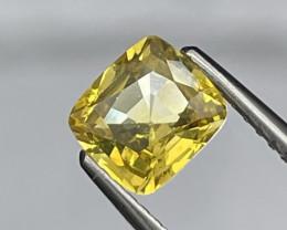 1.21 Cts AAA Grade Srilanka Unheated Top Quality Electric Yellow Sapphire