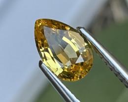 1.30 Cts AAA Grade Srilanka Unheated Yellow Sapphire Amazing Luster