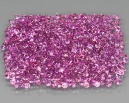 500Pcs/4.14 Ct./1.1 mm. Natural Earth Mined Pink Purple Rhodolite Garnet
