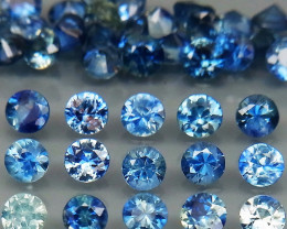 4.00 Ct/ 40 Pcs/2.7 mm. Natural Earth Mined Cornflower Blue Sapphire