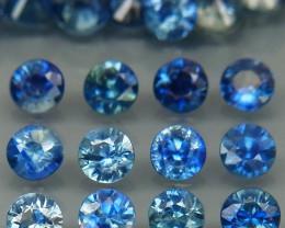4.28 Ct/ 35 Pcs/2.9 mm. Natural Earth Mined Cornflower Blue Sapphire