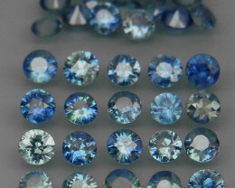 3.60 Ct/ 35 Pcs/2.7 mm. Natural Earth Mined UNHEATED  Sapphire
