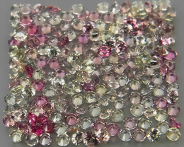 80 Pcs/3.62 Ct./2.0 mm Fancy Color UNHEATED Sapphire Songea,Africa