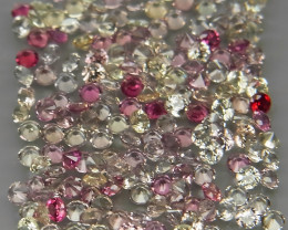 200 Pcs/3.87 Ct./1.5 mm Fancy Color UNHEATED Sapphire Songea,Africa