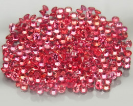 290Pc/4.49Ct/1.1-1.5mm.Round Diamond Cut  Natural Sapphire   Imperial Red