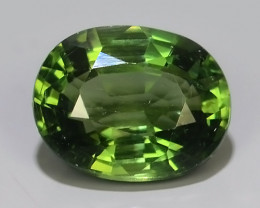 2.75 CTS GENUINE TOP GREEN COLOR APATITE OVAL GEM BRAZIL