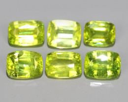 3.15 Cts-Excellent Hot Neon Green Sparks- Sphene/Titanite-Cushion Gem!!