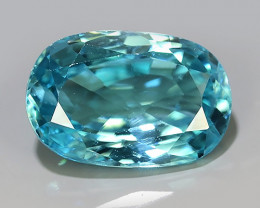 3.50 CTS~EXCEPTIONAL NATURAL RARE FANCY OVAL CUT BLUE~ZIRCON EXCELLENT!!