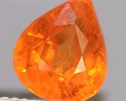4.00 Cts~Natural Shocking Pear Fanta Orange Spessartite Garnet Namibia, Ama
