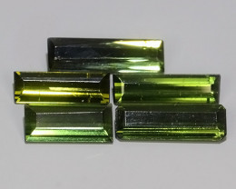 3.90 CTS-ALLURING GREEN COLOR TOURMALINE OCTAGON EXCELLENT!!