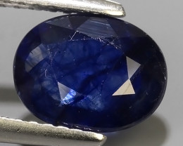 2.35 Cts Natural Intense Beautiful Blue Sapphire Oval Shape From MADAGASCAR