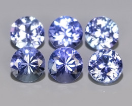 1.60 CTS~EXCELLENT ROUND CUT_MARVELOUS_NATURALl TANZANITE NR!!