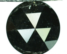 1.72 Cts Natural Black Diamond Round 7.80mm (Rose Cut) Africa