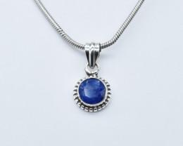 BLUE SAPPHIRE PENDANT 925 STERLING SILVER NATURAL GEMSTONE JP250