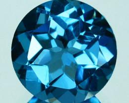 2.00 Cts Beautiful Natural Swiss Blue Topaz 8mm Round Cut USA