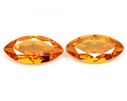 Mystic Quartz 3.04 Cts  2 Pcs Fancy Sparkling Orange Gemstone