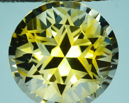 ~CUSTOM CUT~ 9.12 Cts Natural Golden Citrine Fancy Round Brazil