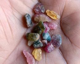 Natural Tourmaline Rough Parcel of 25 Ct Genuine Gemstones VA4098