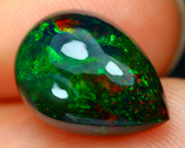 Black Opal 2.55Ct Natural Smoked Ethiopian Play Color Black Opal B2502