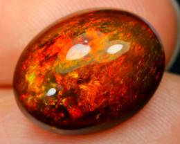 Black Opal 4.43Ct Natural Smoked Ethiopian Play Color Black Opal B2503