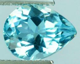 2.42 Cts Natural Sky Blue Topaz 10x7mm Pear Cut USA