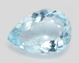 3.78 Cts Blue  Natural Aquamarine Loose Gemstone
