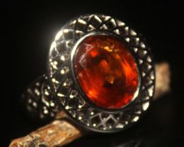 Natural Hassonite Garnet 925 Silver Ring 491