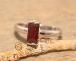 Natural Garnet 925 Silver Ring 460
