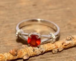 Natural Garnet 925 Silver Ring 417