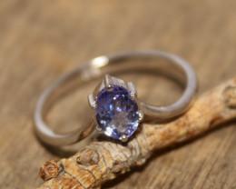 Natural Tanzanite 925 Silver Ring 488