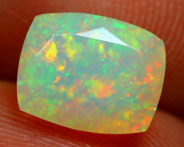 1.62Ct Bright Neon Rainbow Flash Color Play Faceted Welo Opal B1388