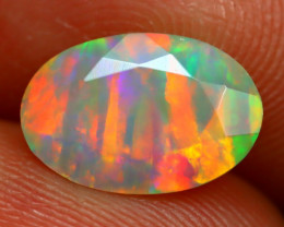 1.86Ct Bright Neon Rainbow Flash Color Play Faceted Welo Opal B1324