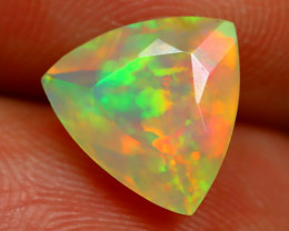 2.33Ct Bright Neon Rainbow Flash Color Play Faceted Welo Opal B1325
