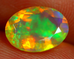 1.41Ct Bright Neon Rainbow Flash Color Play Faceted Welo Opal B1393
