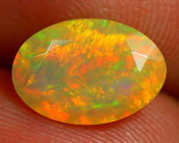 1.63Ct Bright Neon Rainbow Flash Color Play Faceted Welo Opal B1398