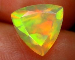 2.23Ct Bright Neon Rainbow Flash Color Play Faceted Welo Opal B1345