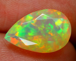 1.82Ct Bright Neon Rainbow Flash Color Play Faceted Welo Opal B1349