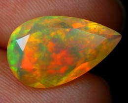 1.68Ct Bright Neon Rainbow Flash Color Play Faceted Welo Opal B1364