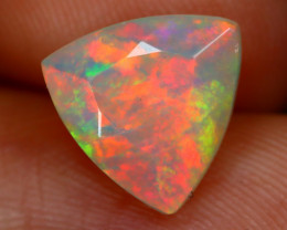 1.64Ct Bright Neon Rainbow Flash Color Play Faceted Welo Opal B1315