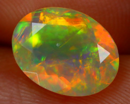 1.18Ct Bright Neon Rainbow Flash Color Play Faceted Welo Opal B1316