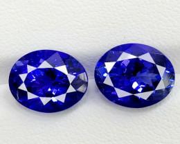 9.560 CT IF 100% CLEAN NATURAL AAA+++ GRADE ROYAL BLUE TANZANITE PAIR