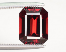 Emerald Cut Perfect for Jewelry 3.05 ct Red Garnet
