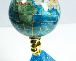 GEMSTONE GLOBE PACIFIC  BLUE COLOUR 5 CM/HT4 INCHES  TW1012
