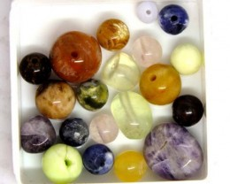 ASSORTED NATURAL BEADS (PARCEL) 31.6 CTS  NP-1520